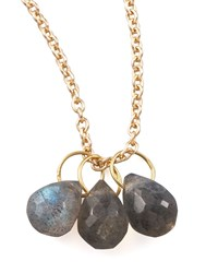 Labradorite Teardrop Charm Heather Moore