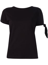 J.W.Anderson Tie Knot Detail T Shirt Black