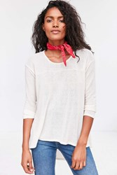Kimchi And Blue Blaire High Low Tunic Sweater Ivory