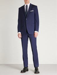 Gieves And Hawkes Wool Wedding Suit Navy