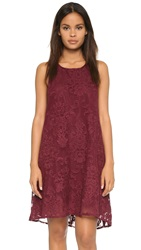 Bb Dakota Cadence Embroidered Lace Dress Wine