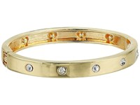 Guess Hingle Bangle W Crystal Accents Gold Crystal Bracelet