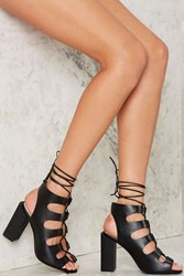 Jeffrey Campbell Be My Leather Lace Up Heels