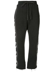 R 13 R13 Side Printed Logo Sweatpants Black