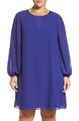 Vince Camuto Plus Size Women's Split Sleeve Chiffon Trapeze Dress