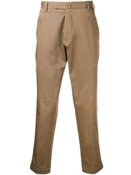 Dell'oglio Cropped Chino Trousers Brown