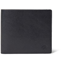Mulberry Cross Grain Leather Billfold Wallet Midnight Blue