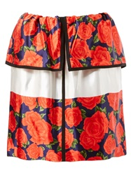Maison Rabih Kayrouz Rose Skirt Red