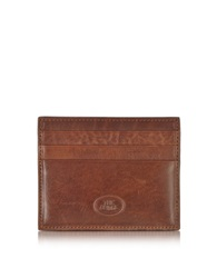 The Bridge Story Uomo Leather Credit Card Holder Brown