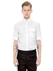 Neil Barrett Cotton Poplin Short Sleeve Shirt