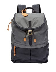 Fossil Defender Canvas Backpack Blue