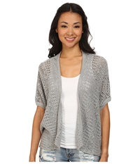 Roxy Same Old Feeling Short Sleeve Open Cardigan Heritage Heather Women's Sweater Gray