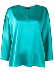 Gianluca Capannolo V Neck Blouse Green