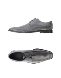 Rochas Lace Up Shoes Grey