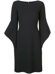 Michael Kors Collection Bell Sleeved Dress Black