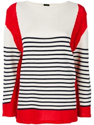 Jean Paul Gaultier Vintage Blockcolour Striped Jumper White