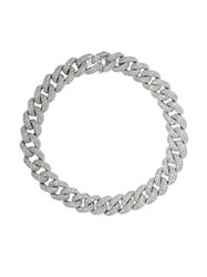 Shay 18Kt White Gold Curb Chain Diamond Bracelet 60