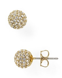 Nadri Small Crystal Ball Earrings Gold