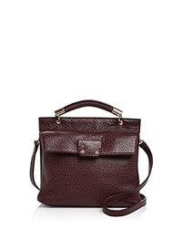 Etienne Aigner Althea Small Leather Satchel Cordovan Gold