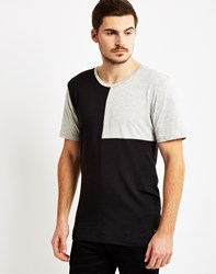 Only And Sons Mens O Neck Regular Fit T Shirt With Cut And Sew Panels Black