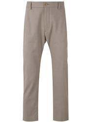 Pence Cropped Trousers Men Cotton Spandex Elastane 48 Nude Neutrals