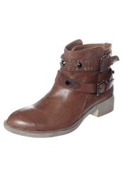 Cinti Cowboy Biker Boots Dark Brown