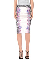 Angelo Marani Skirts Knee Length Skirts Women White