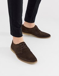 Pier One Lace Up Shoes In Brown Suede
