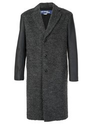 Junya Watanabe Comme Des Garcons Man Contrast Sleeve Knitted Coat Grey