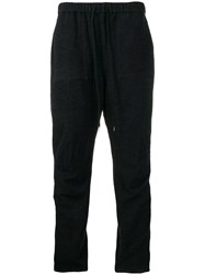 Individual Sentiments Woven Track Trousers Blue