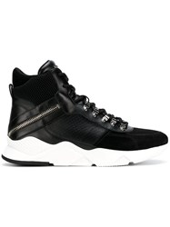 Balmain Ankle Lace Up Sneakers Black
