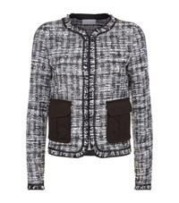 Escada Sport Frayed Tweed Jacket Female Black