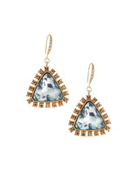Lydell Nyc Triangular Drop Earrings Teal Golden