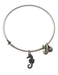 Alex And Ani Seahorse Charm Bangle Bracelet Silver