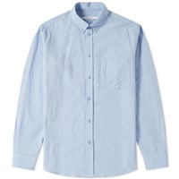 Givenchy Pocket Logo Oxford Shirt Blue