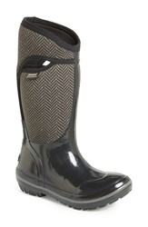 Bogs Women's 'Plimsoll Herringbone' Waterproof Boot Black Grey