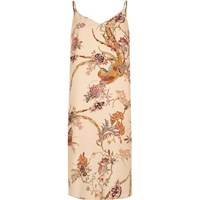 River Island Womens Cream Print Midi Slip Dress