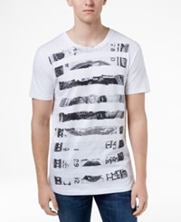 Ring Of Fire Men's Dollar Stripe Graphic Print Cotton T Shirt Only At Macy's White
