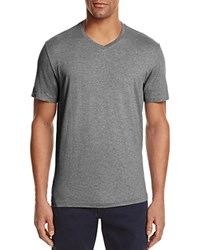 Bloomingdale's The Men's Store At Pima Cotton V Neck Tee Medium Heather Grey