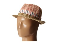 Bcbgeneration Soft Stripe Fedora Lena Pink Traditional Hats Beige