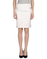 Elisabetta Franchi For Celyn B. Skirts Knee Length Skirts Women White