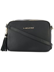 Lancaster Logo Plaque Shoulder Bag Black