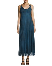 Elie Tahari Opal Sleeveless Maxi Dress Denim