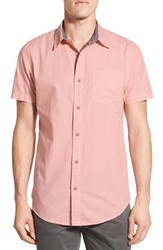 Men's Original Paperbacks 'Torino' Short Sleeve Woven Shirt Petal