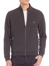 Z Zegna Zip Front Track Jacket Grey