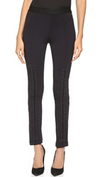 Bcbgmaxazria Lace Up Leggings Black