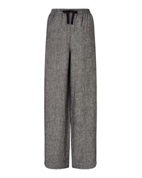 East Linen Wide Leg Trouser Black