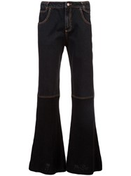 Telfar Boot Cut Wide Leg Jeans Black
