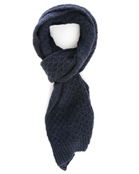 Closed Navy Scarf