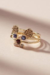 Anthropologie Quiet As A Mouse Ring Set Gold